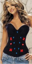 Red Flower and Diamond Corset L4172