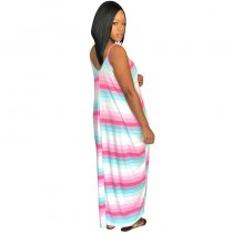 "The ""Pinky"" Color Block Maxi Dress"