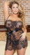 Plus Size Angelica Lace Baby Doll Set