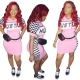 Motorsport Mini Dress (HUSTLE) Pink