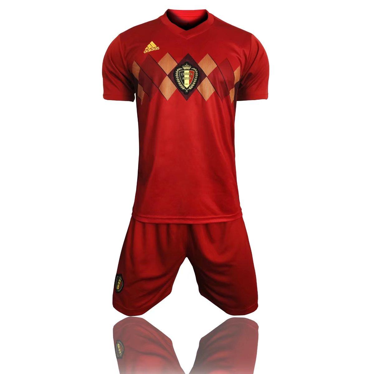 8d2d8f5f5 adidas russia world cup 2018 belgian national team best quality soccer  jerseys shirt item no 1