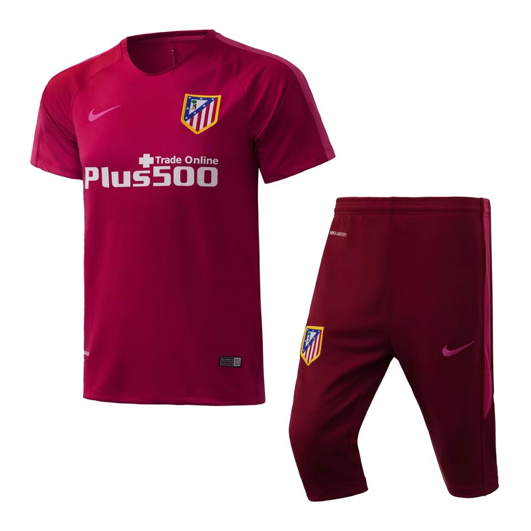 us 27 8 atletico madrid short training suit burgundy 2016 17. Black Bedroom Furniture Sets. Home Design Ideas
