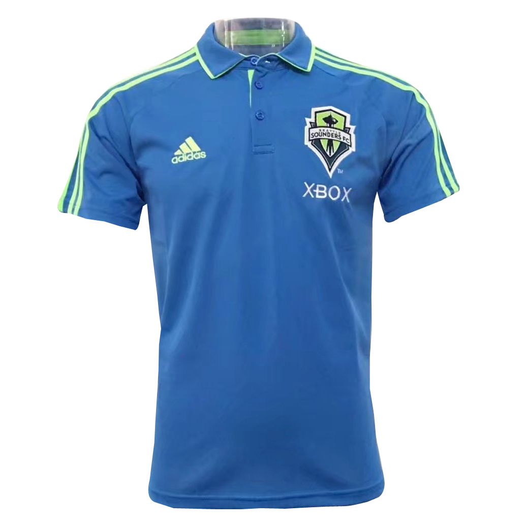 a4c565713a5 Seattle Sounders FC team USA soccer jerseys Polo Shirt Blue Xbox2017