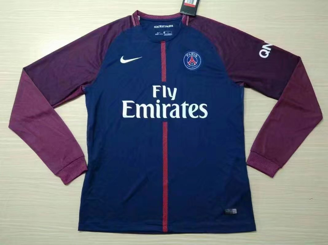 15125f21f US$ 16.8 - PSG Home Jersey Long Sleeve Men 2017/18 - www.yajerseyclub.com