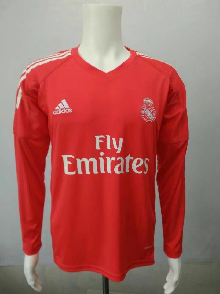 the latest 7ab7e a3351 Real Madrid Goalkeeper Red Jersey Long Sleeve Men 2017/18