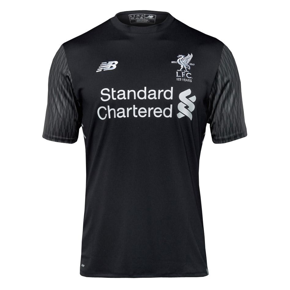wholesale dealer 2f2e1 abbc8 Liverpool Goalkeeper Black Jersey Short Sleeve Men 2017/18