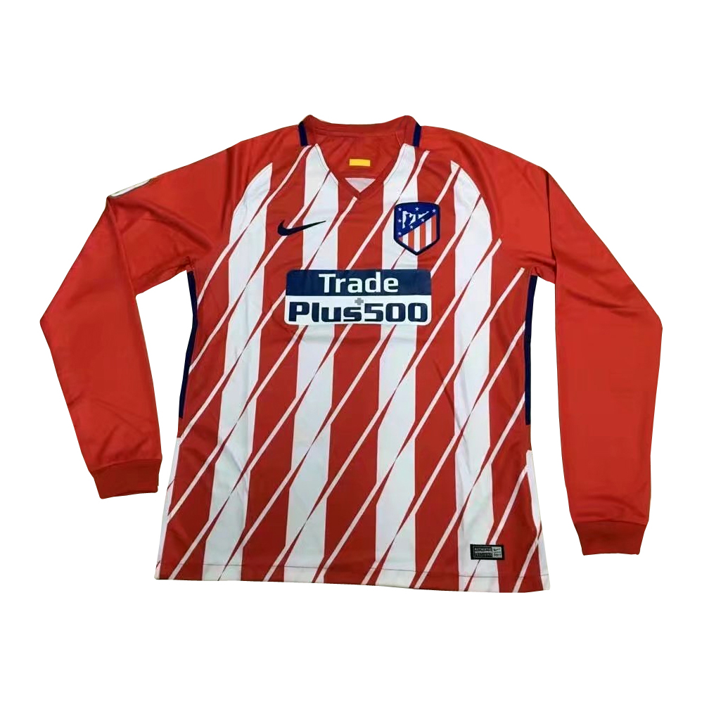 7a7b43030 US$ 16.8 - Atletico Madrid Home Jersey Long Sleeve Men 2017/18 - www ...