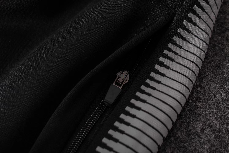 3f023196a US$ 34.8 - PSG Training Suit Zipper Light Grey 2017/18 - www .yajerseyclub.com