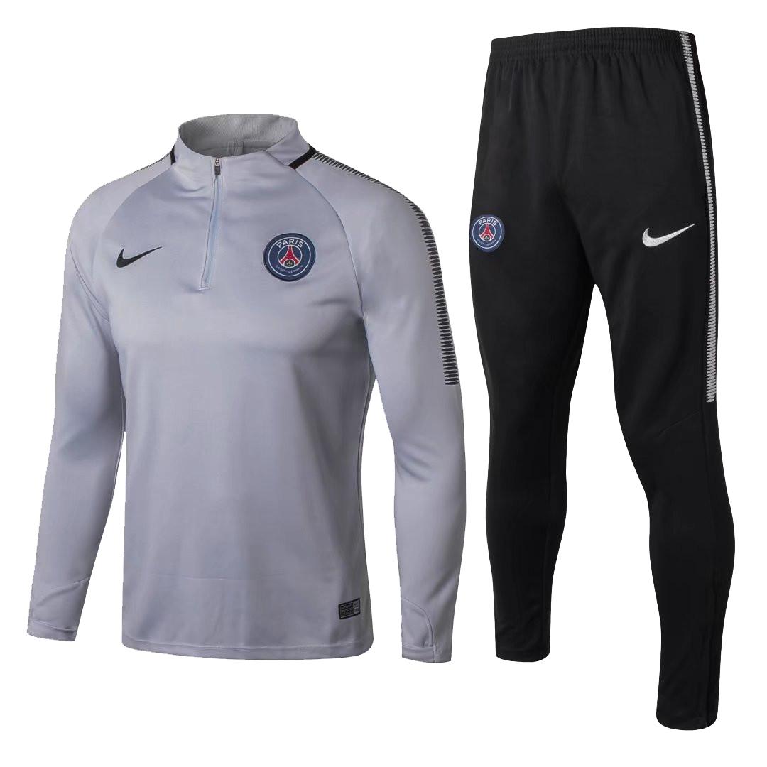 89f3c5b67 US$ 34.8 - PSG Training Suit Zipper Light Grey 2017/18 - www ...