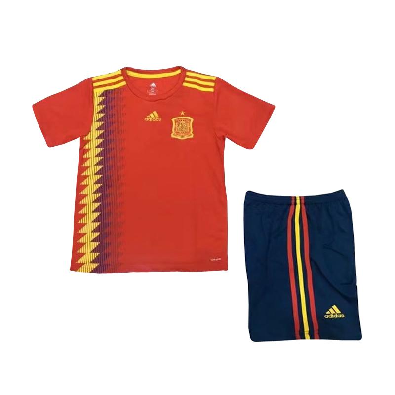 US  14.8 - Spain FIFA World Cup 2018 Home Jersey Kids - www.yajerseyclub.com 873772fe0
