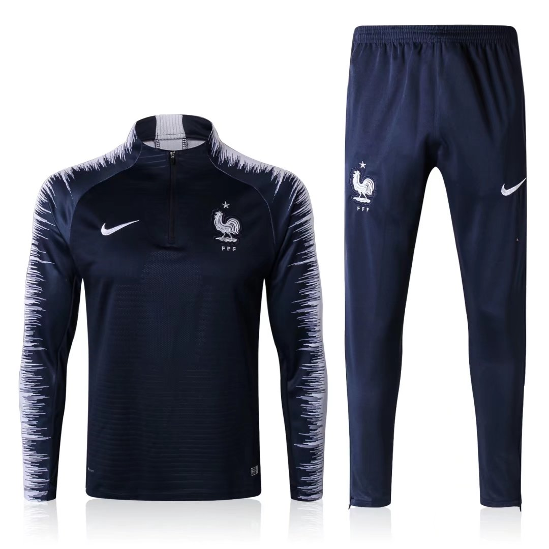 reputable site 27393 4b335 France FIFA World Cup 2018 Training Suit Royal Blue Stripe