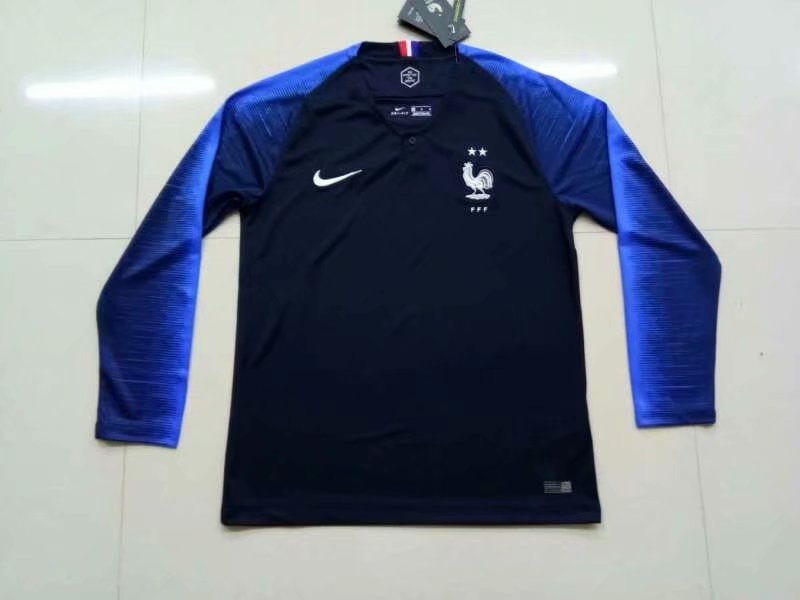 ba1e226bc61 US  16.8 - France FIFA World Cup 2018 Home Jersey Long Sleeve Men s - 2-Star  - www.fcsoccerworld.com