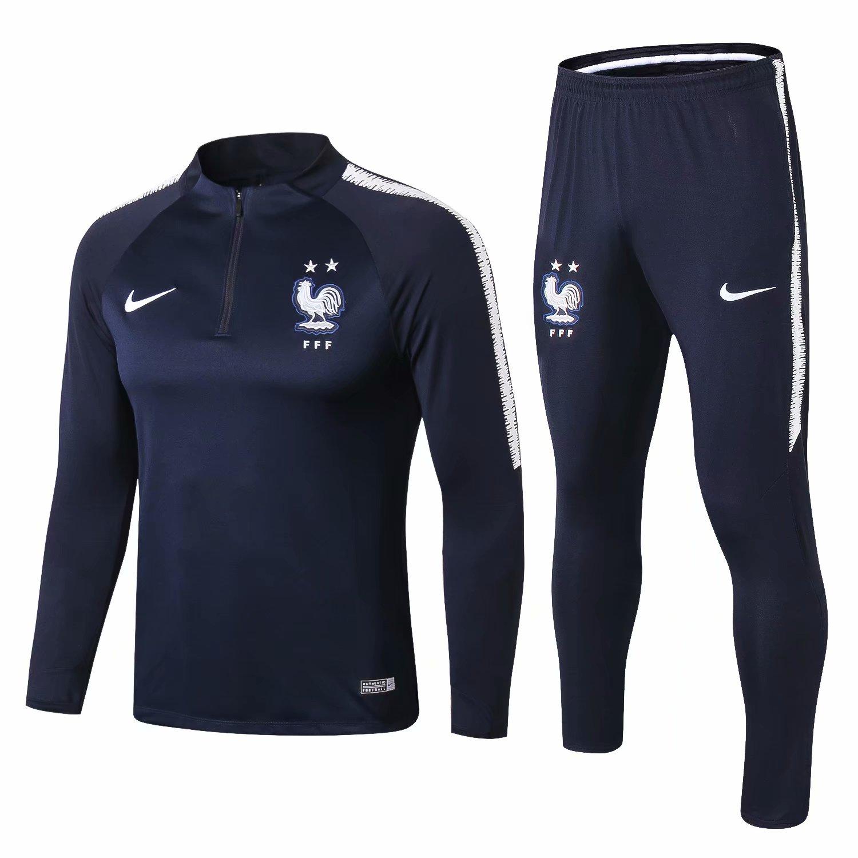 50f3e2a91 US  34.8 - France FIFA World Cup 2018 Training Suit Royal Blue - 2-Star -  www.fcsoccerworld.com