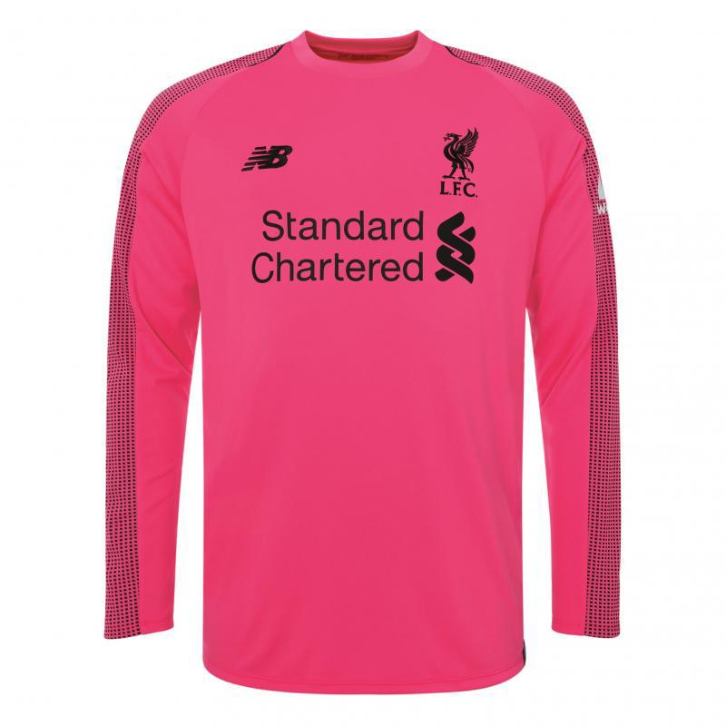d3da353f32e Liverpool Goalkeeper Pink Jersey Long Sleeve Men s 2018 19. Loading zoom