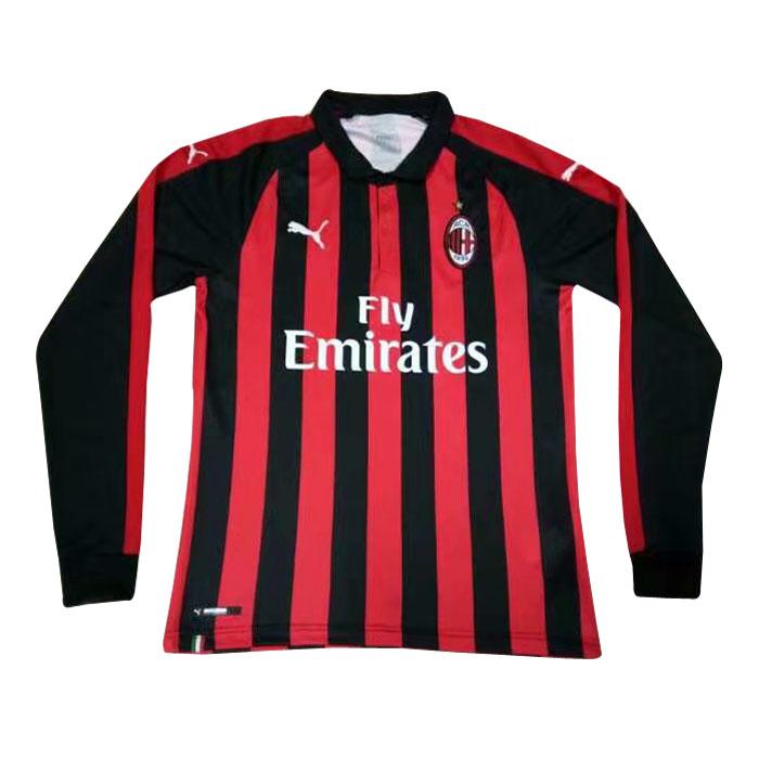 new style 339dd d1ff2 ac milan long sleeve jersey
