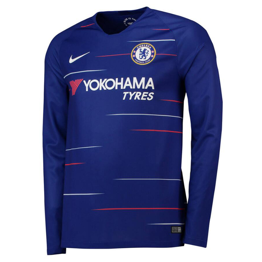 US  16.8 - Chelsea Home Jersey Long Sleeve Men s 2018 19 -  www.fcsoccerworld.com f4116c652