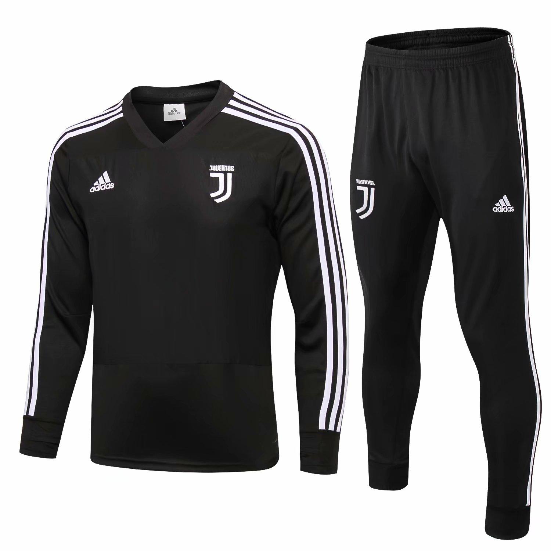 b17f4bbe1 US$ 34.8 - Juventus Training Suit Black 2018/19 - www.fcsoccerworld.com