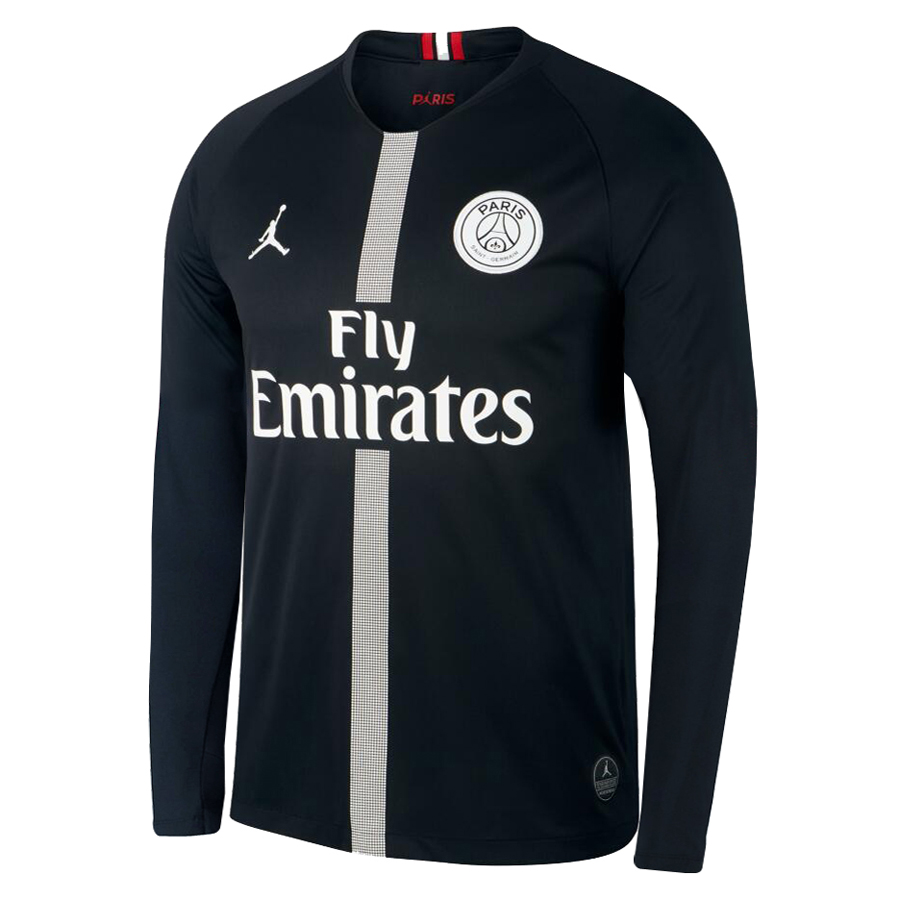 US  16.8 - PSG x Jordan Third Black Jersey Long Sleeve Men s 2018 19 -  www.fcsoccerworld.com 44d2b7ac2