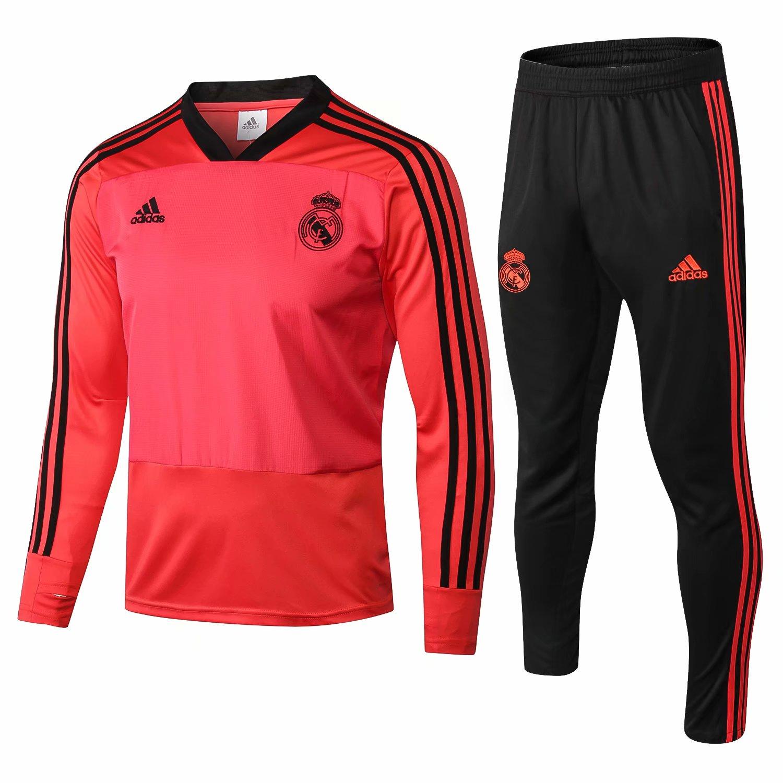 94a7d1c12 Us 34 8 Real Madrid Training Suit V Neck Orange 2018 19 Www