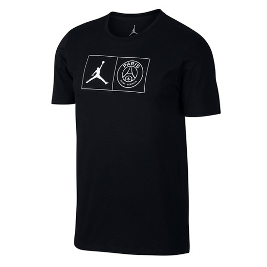 77cfc048d6a813 US  15.8 - PSG x Jordan Black T-Shirt Men s 2018 19 SW294668 - www ...
