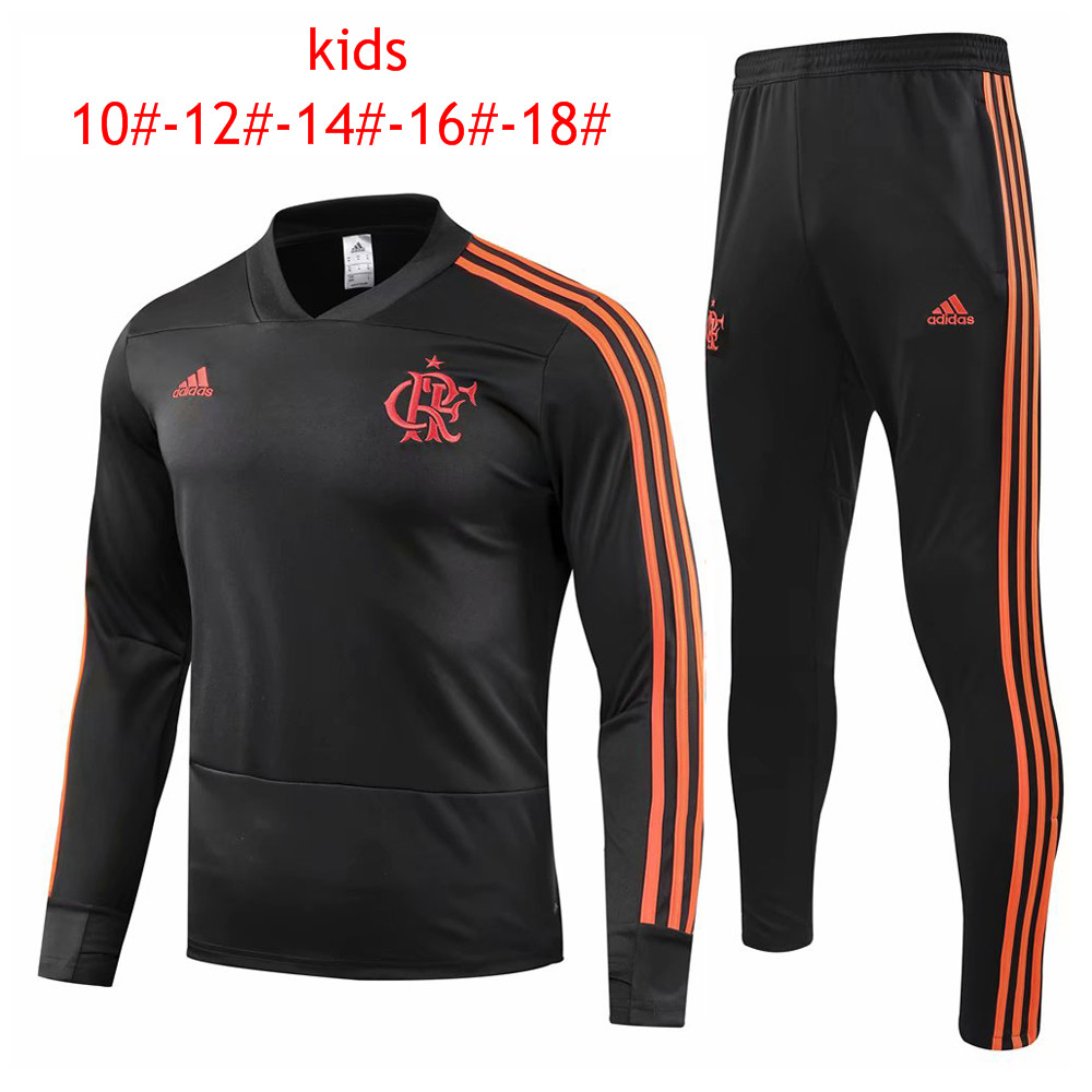 82978afd32 US  29.8 - Kids Flamengo Training Suit Black 2018 19 - www.fcsoccerworld.com