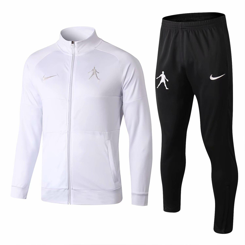 713ccd334 US  38.8 - NIKE CR7 Jacket + Pants Training Suit White 2018 19 -  www.fcsoccerworld.com