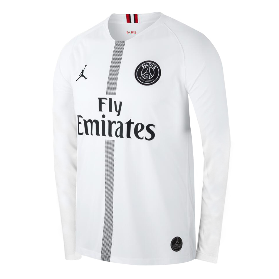 ebdfe95a7eb US$ 16.8 - PSG x Jordan Third White Jersey Long Sleeve Men's 2018/19 -  www.fcsoccerworld.com