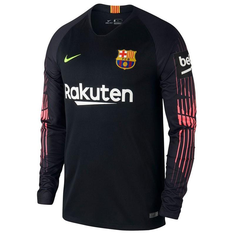 f9fa95a078d US  16.8 - Barcelona Goalkeeper Black Jersey Long Sleeve Men s 2018 19 -  www.fcsoccerworld.com