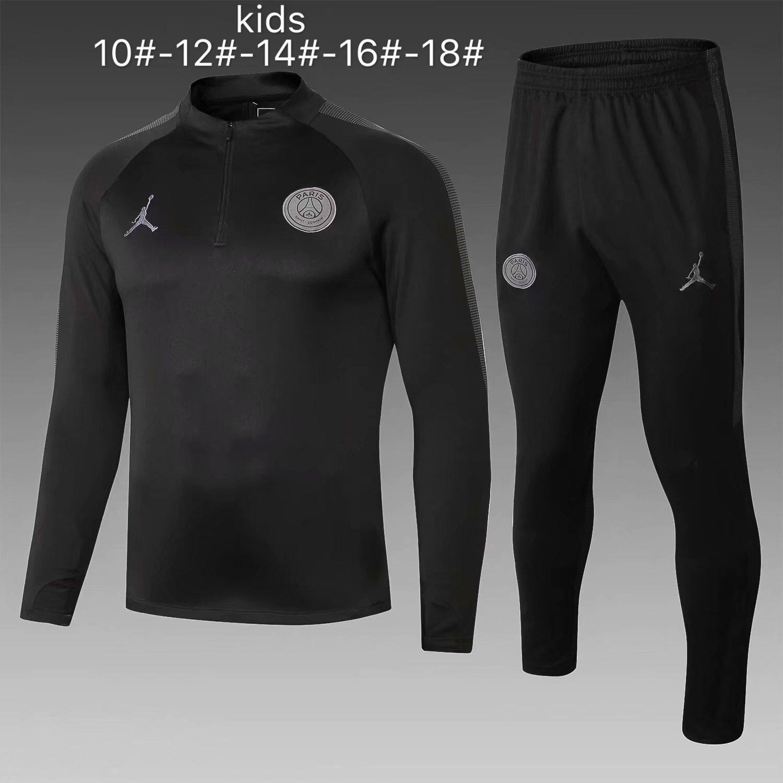 US  29.8 - Kids PSG x Jordan Training Suit Black 2018 19 -  www.fcsoccerworld.com 9ad86ceb1