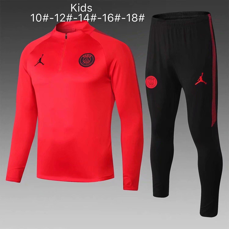 257a175c30588d US  29.8 - Kids PSG x Jordan Training Suit Red 2018 19 -  www.fcsoccerworld.com