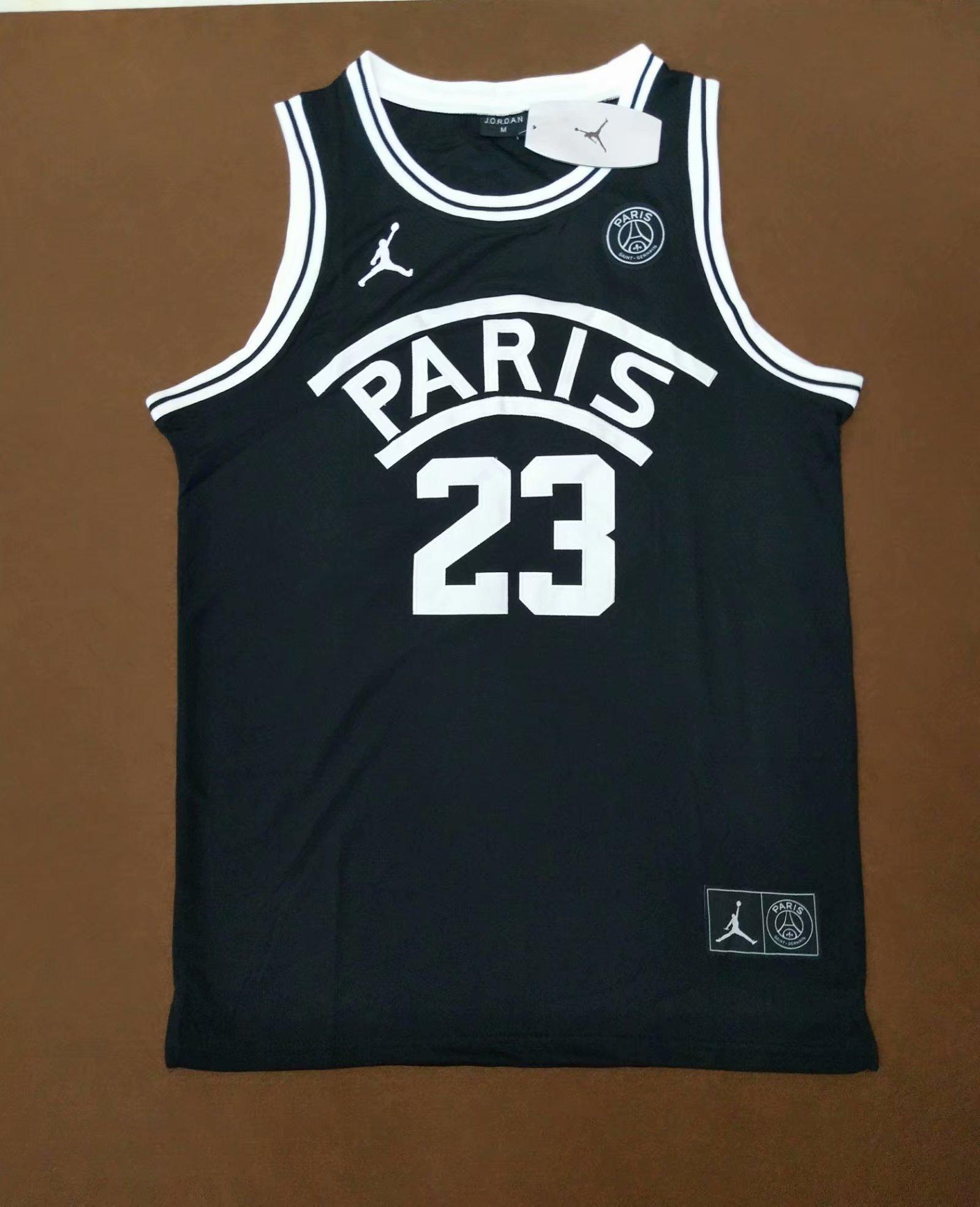67f685cdb93ce7 US  15.8 - PSG FLIGHT KNIT JORDAN 23 Basketball Black Jersey -  www.fcsoccerworld.com