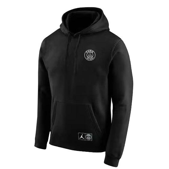 512d5a5bf5a036 US  26.8 - PSG JORDAN Black Circle Hoodie Sweatshirt 2018 19 -  www.fcsoccerworld.com
