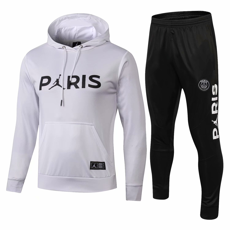 3db16ff475a9 US  36.8 - PSG JORDAN White Hoodie Sweatshirt + Pants Suit 2018 19 -  www.fcsoccerworld.com