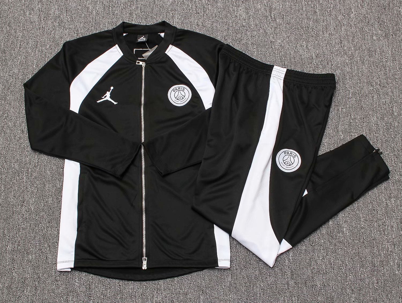 44ed9becbb5dcb US  32.8 - Kids PSG x Jordan Flight Knit Jacket + Pants Training Suit Black  2018 19 - www.fcsoccerworld.com