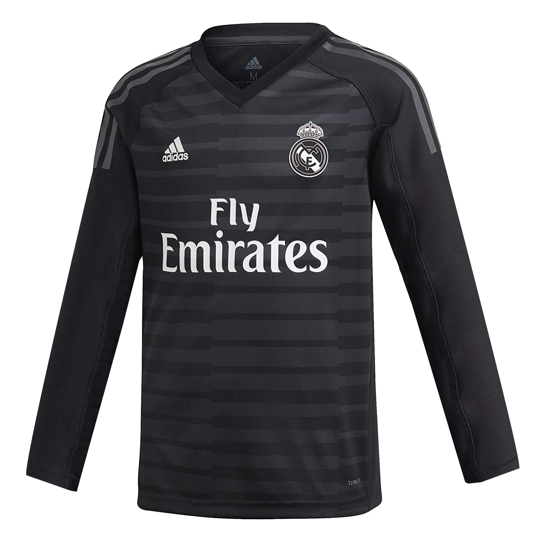 newest 05567 9df36 Real Madrid Goalkeeper Black Jersey Long Sleeve Men's 2018/19