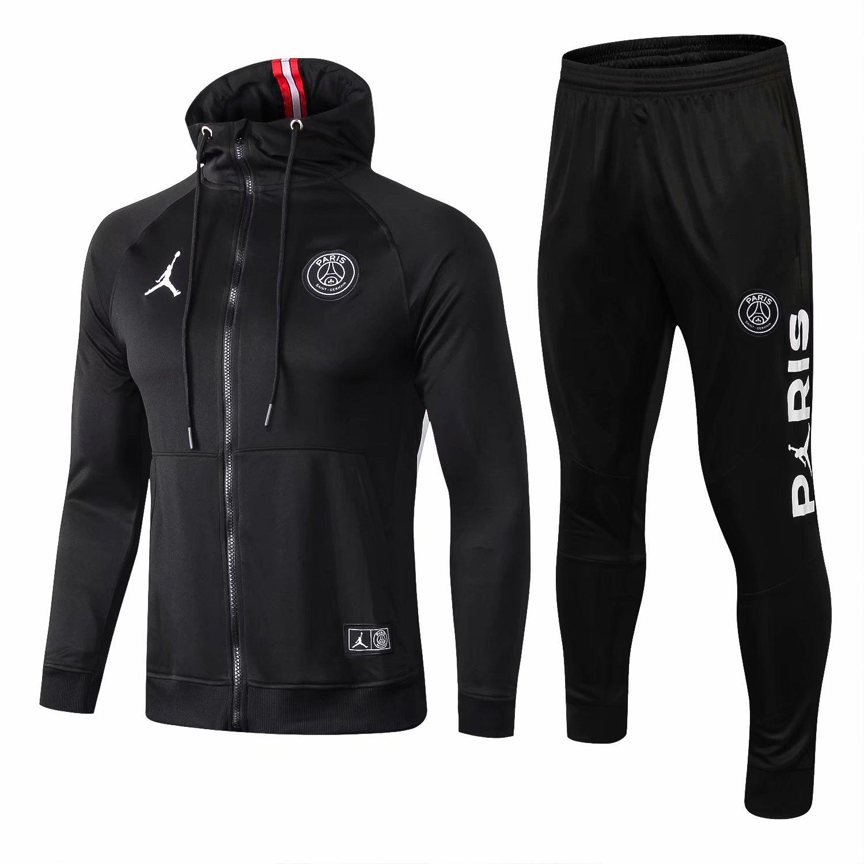 ca9ea1768bbd95 US  38.8 - PSG x Jordan Hoodie Jacket + Pants Training Suit Black 2018 19 -  www.fcsoccerworld.com