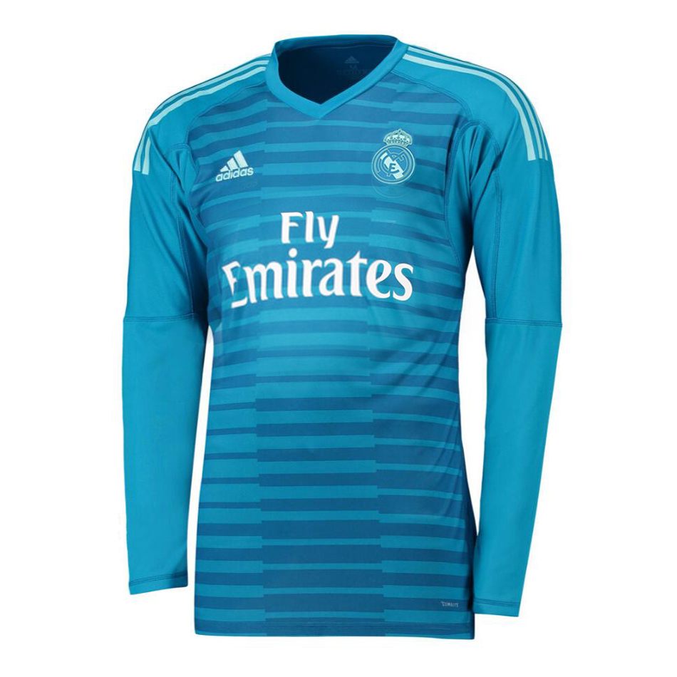 hot sales 81e9c 41764 Real Madrid Goalkeeper Blue Jersey Long Sleeve Men's 2018/19