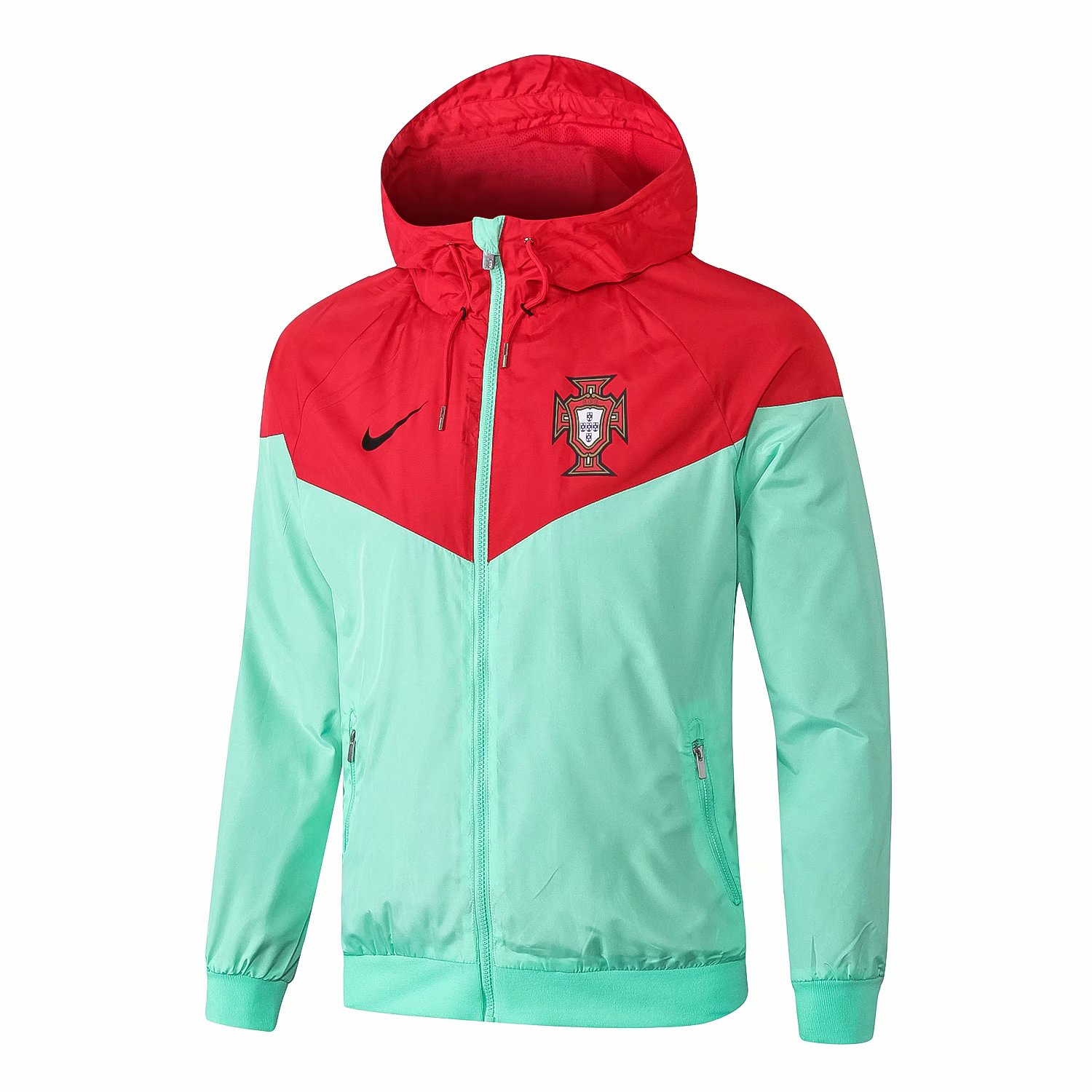 e9f9524322f8 US  32.8 - Portugal Authentic Woven Windrunner Red - Green 2018 -  www.fcsoccerworld.com
