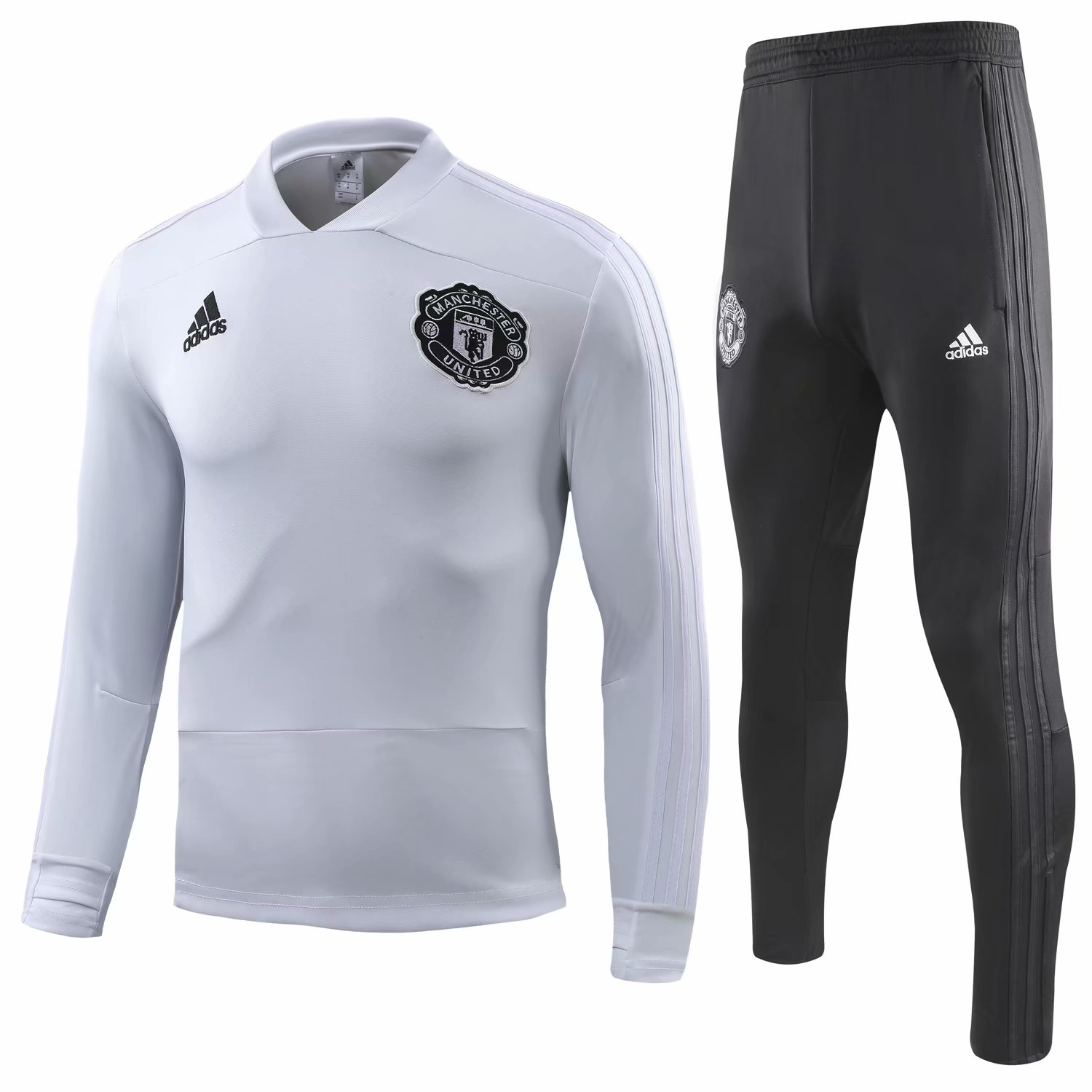 174da22f8 US  34.8 - Manchester United Training Suit Champions League White 2018 19 -  www.fcsoccerworld.com