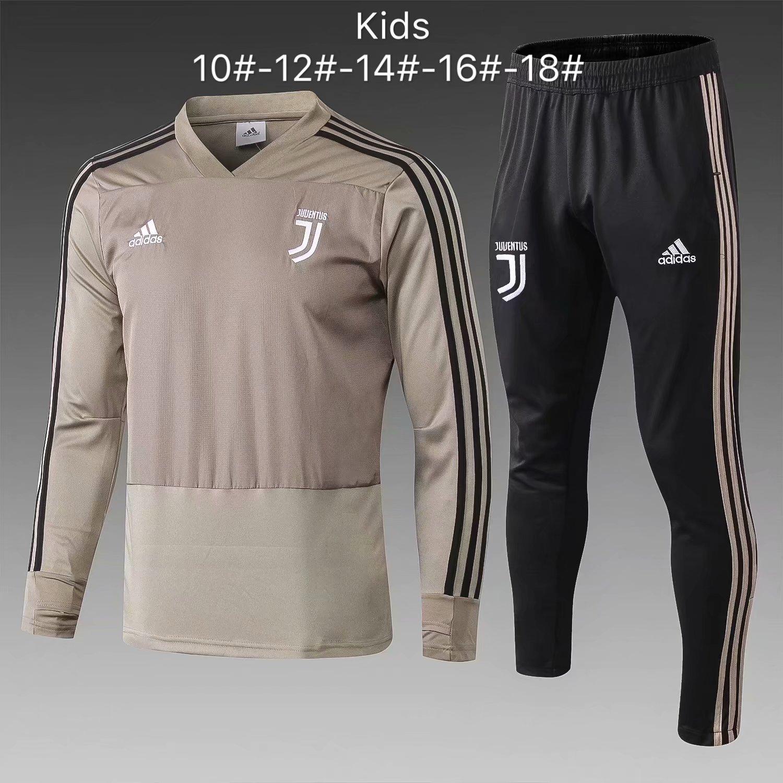 0c9350c85 US$ 29.8 - Kids Juventus Training Suit V-Neck Apricot 2018/19 -  www.fcsoccerworld.com