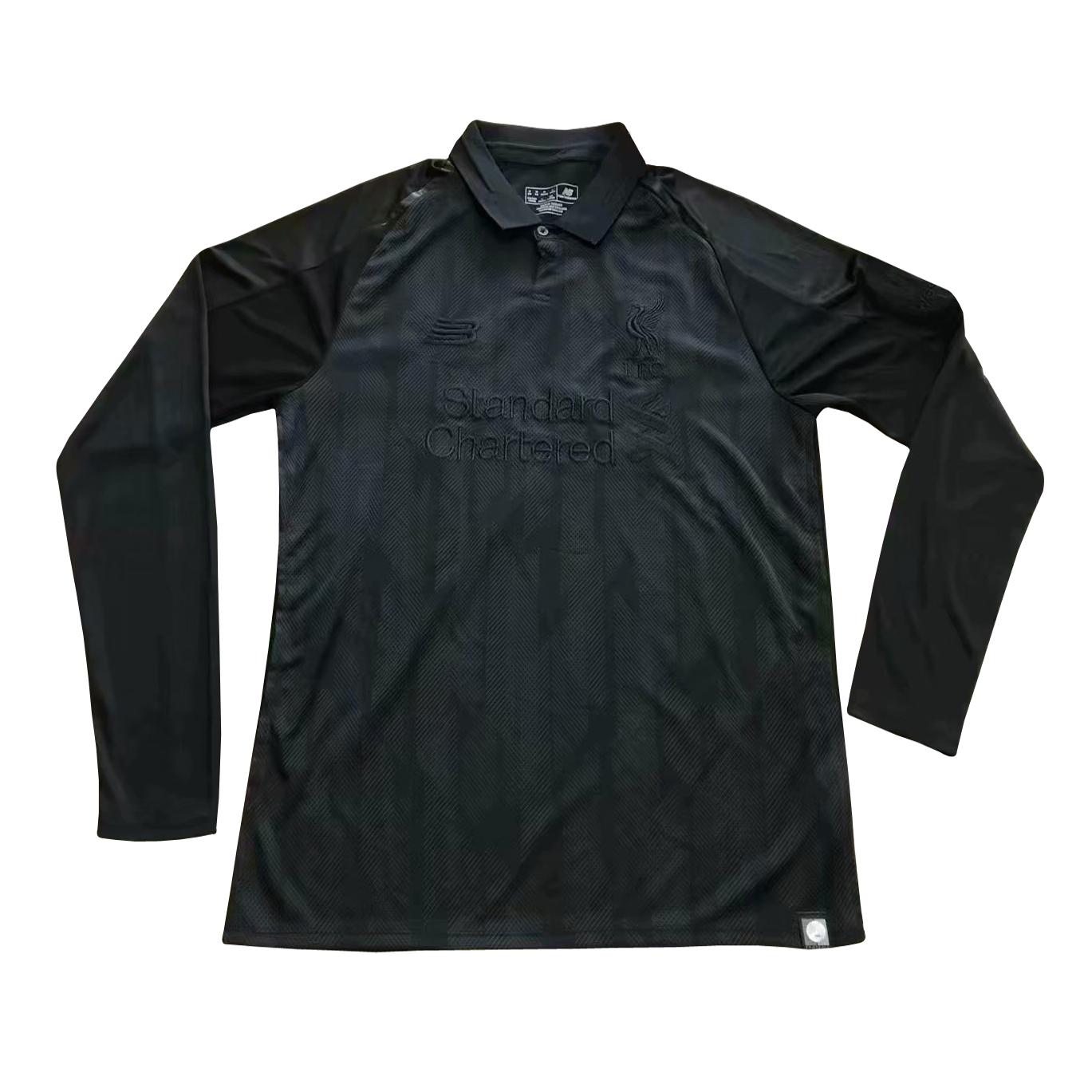 2de437061 US  16.8 - Liverpool Vintage Limited Edition Black Jersey Long Sleeve Men s  2018 19 - www.fcsoccerworld.com