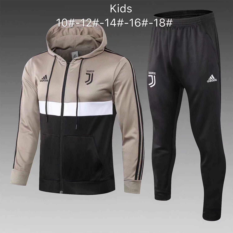 554060a32 US$ 35.8 - Kids Juventus Apricot Hoodie Jacket + Pants Suit 2018/19 -  www.fcsoccerworld.com