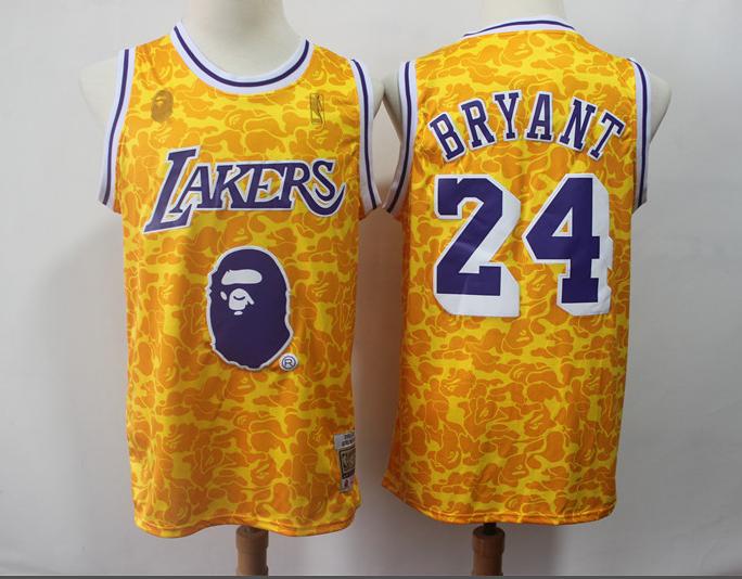 cdbdcb8aab7c US  18.8 - Men s Los Angeles Lakers Bryant 24 BAPE NBA Jersey -  www.fcsoccerworld.com