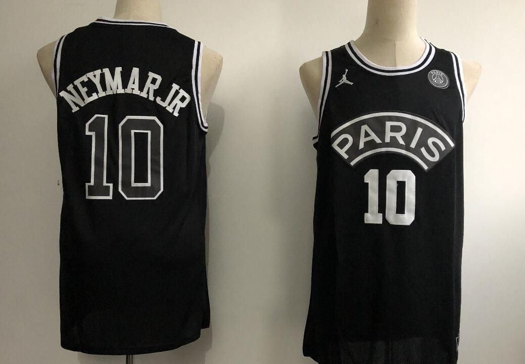 14709c71de1a3f US  18.8 - Men s PSG Neymar 10 Jordan Brand Black NBA Jersey -  www.fcsoccerworld.com