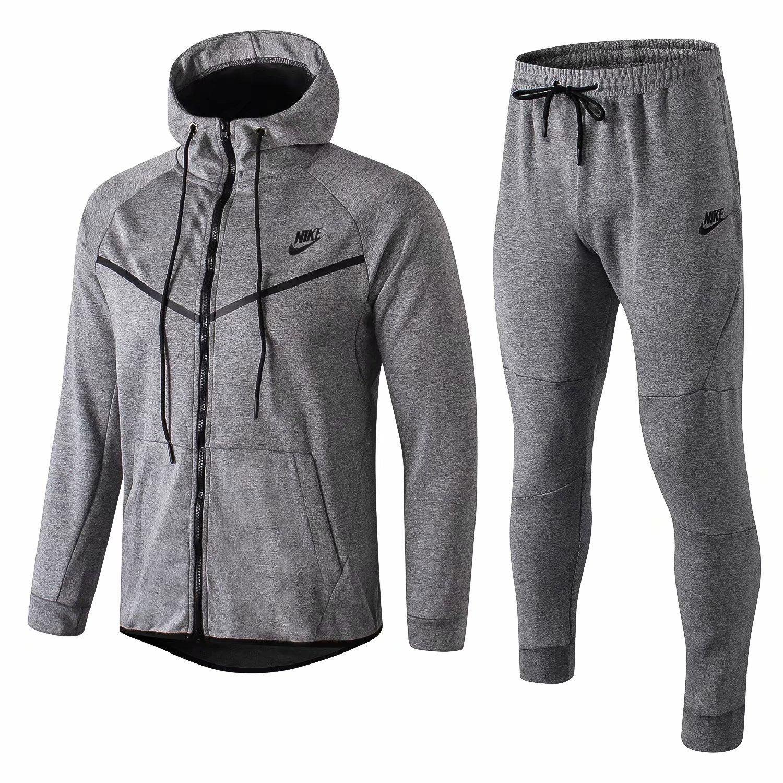 hot sale online b1dde ab501 US  44.8 - NIKE Tech Fleece Hoodie Jacket + Pants Training Suit Grey 2019 -  www.fcsoccerworld.com