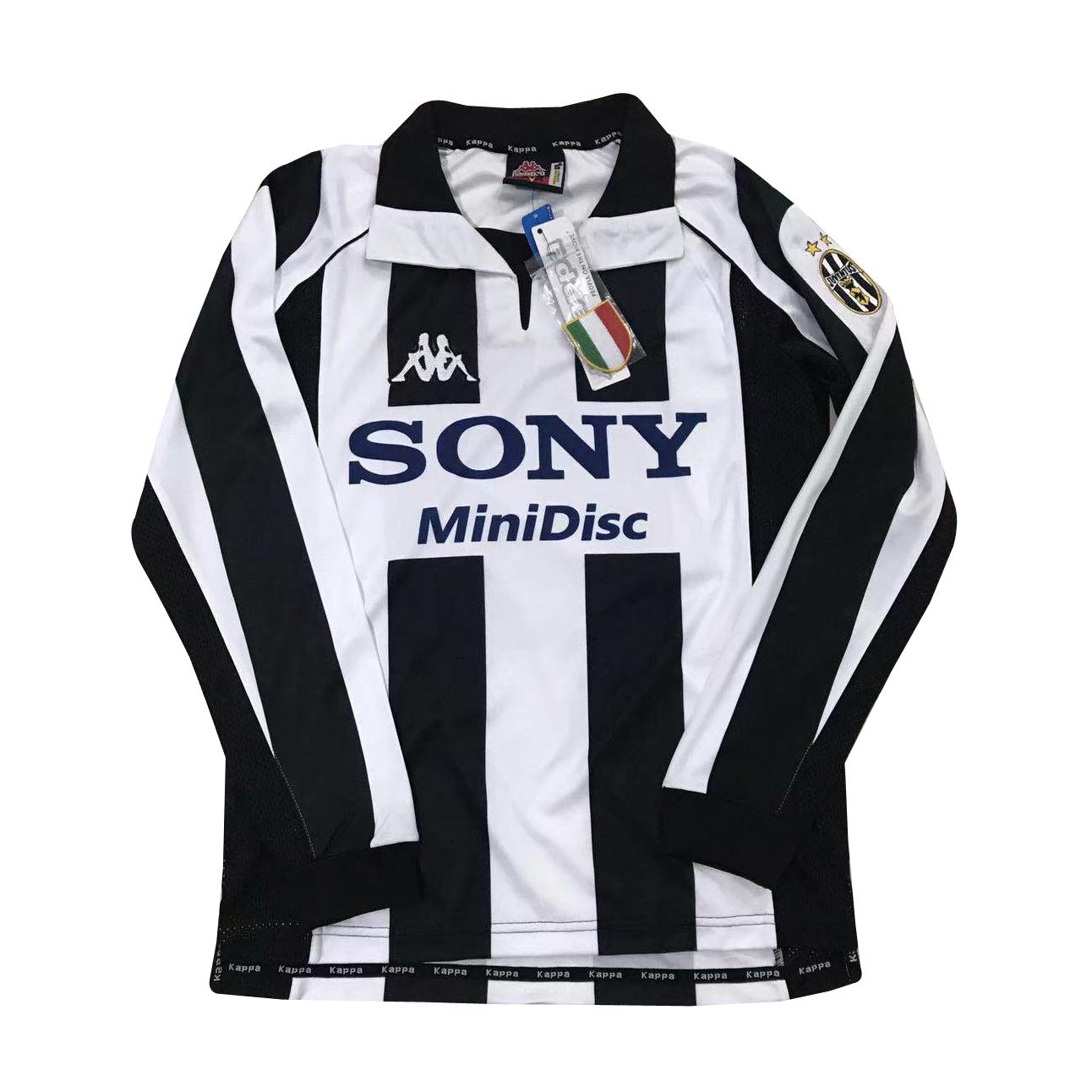 more photos 8b635 29e6b Juventus Retro Home Jersey Long Sleeve Men's 1997/98