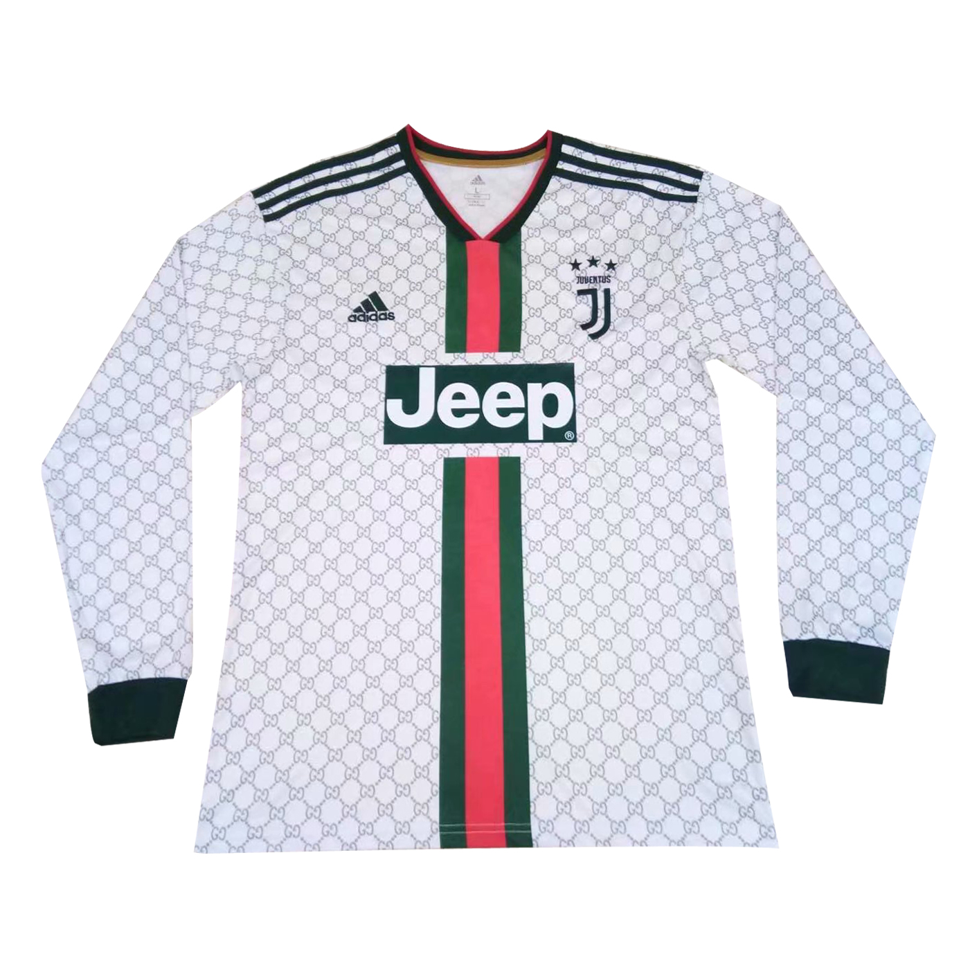 the latest 7bcf1 a49a8 Juventus x Gucci Special Edition White Jersey Long Sleeve Men's 2019