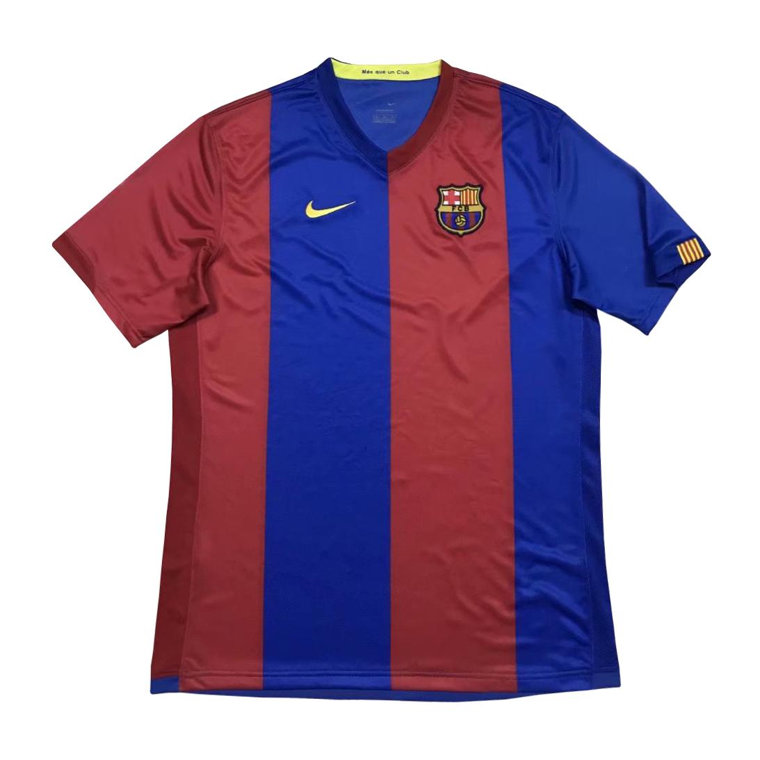 Us 18 80 Barcelona Retro Home Jersey Mens 2006 07 M Fcsoccerworld Com