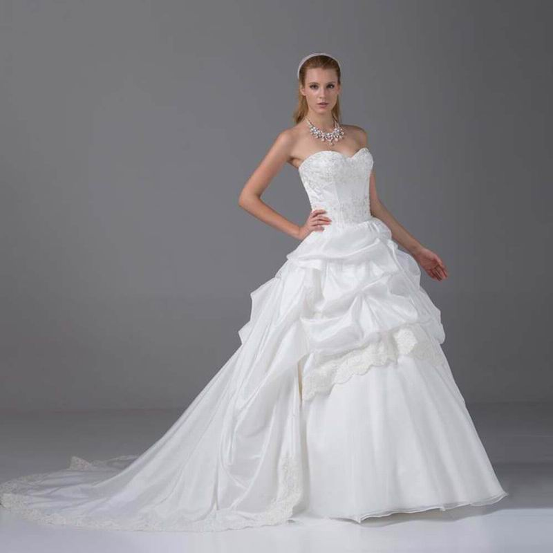 Dropshipping Long Train Sweetheart Vogue Wedding Dress Corset Back ...