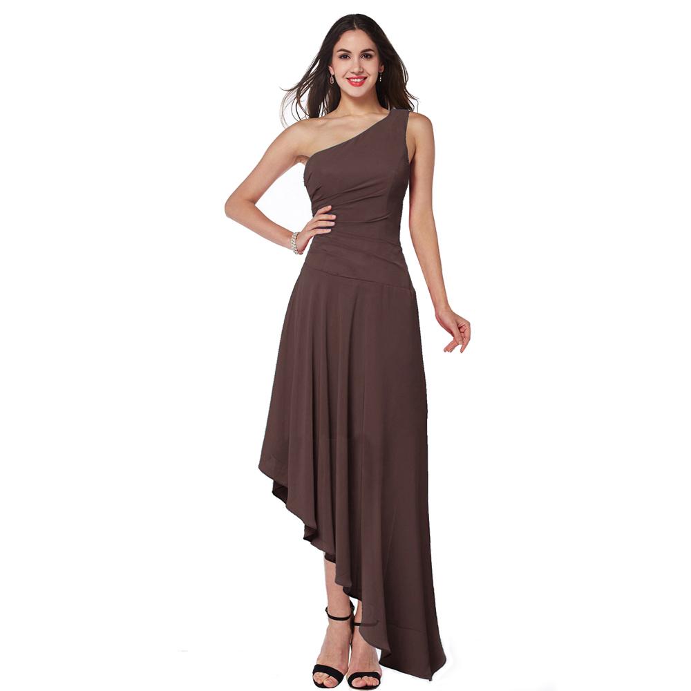 Left Long Right Short Special Design Ladies Bridesmaid Dress One ...